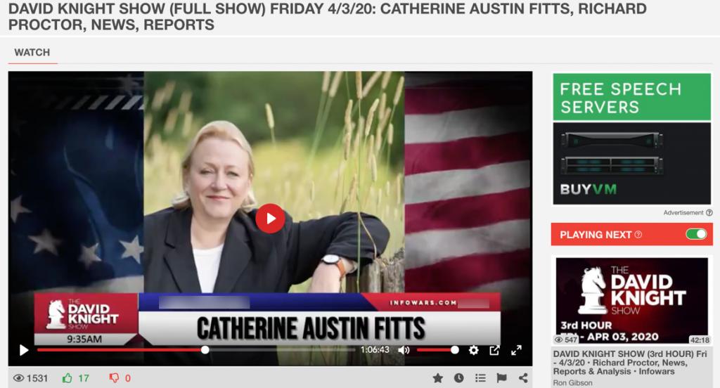 Catherine Austin Fitts Infowars
