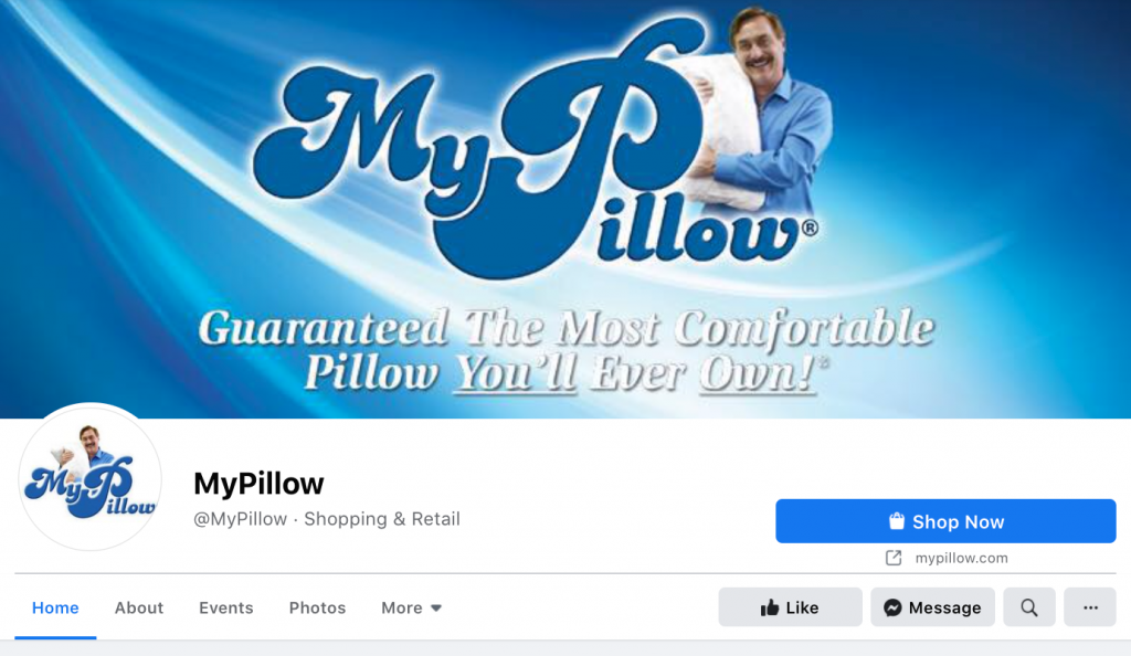 MyPillow Facebook page