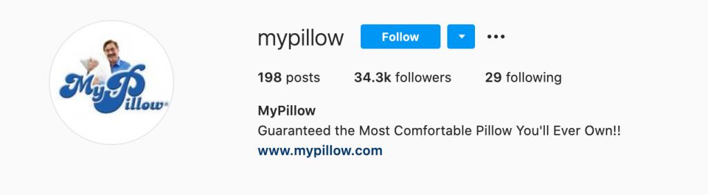 mypillow instagram