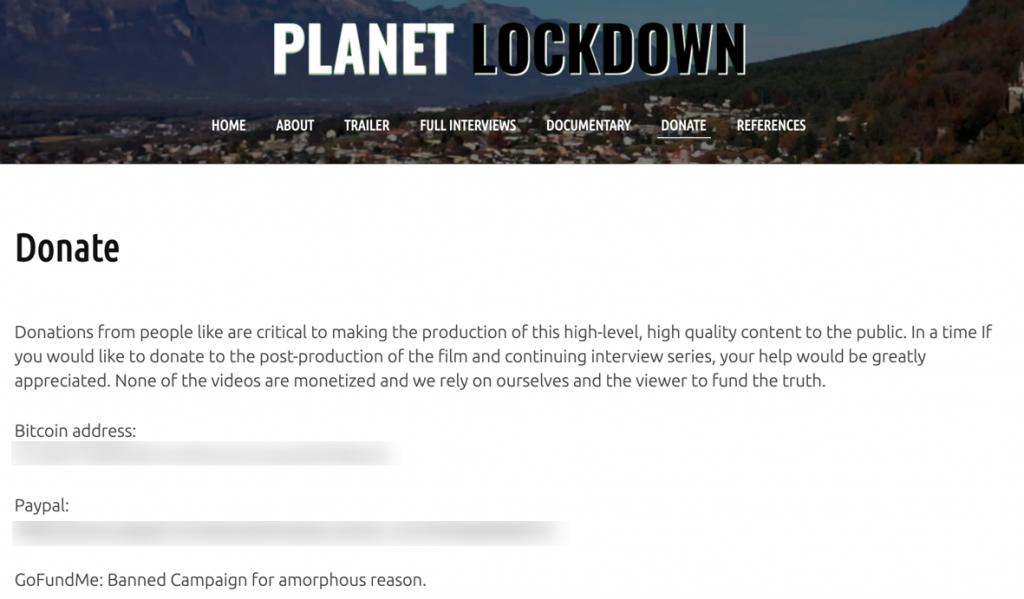 Planet Lockdown GoFundMe ban