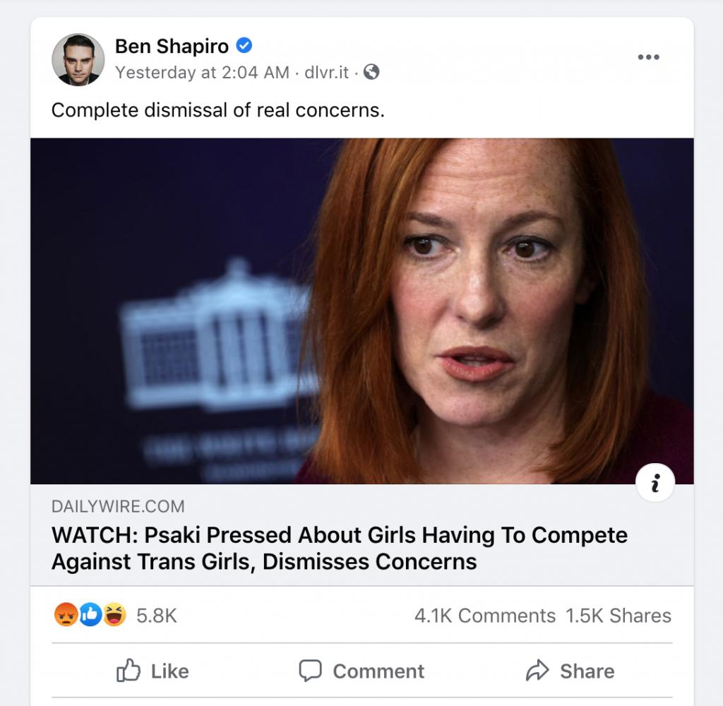 Shapiro 2 FB engagement WH briefing