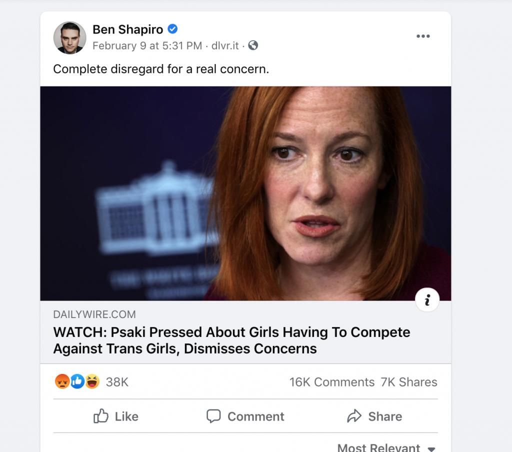 Shapiro 1 FB engagement WH briefing