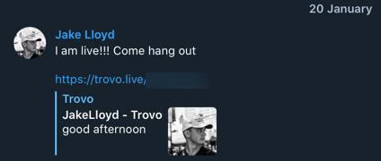 Jake Lloyd Trovo joining