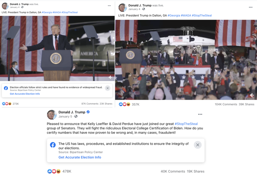 image of facebook posts