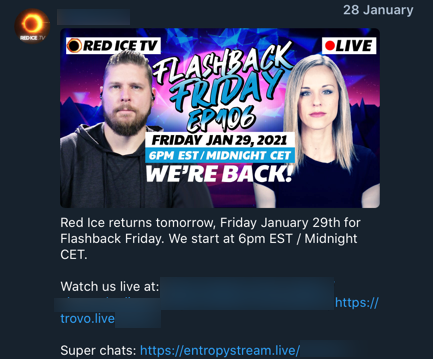 Red Ice TV Trovo joining