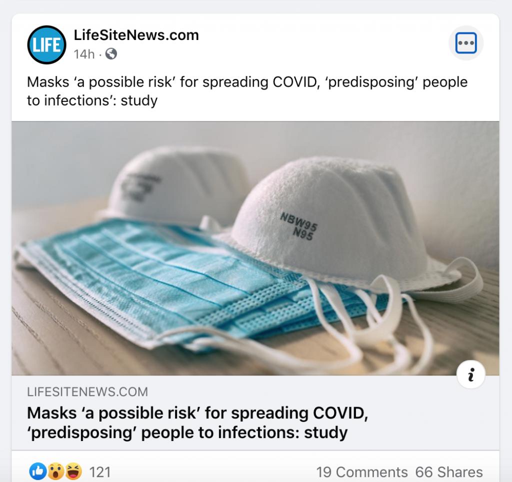 LifeSiteNews FB COVID 2