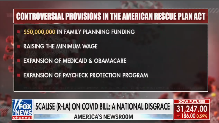 Controversial provisions in the American Rescue Plan Act: Expansion of Medicaid & Obamacare