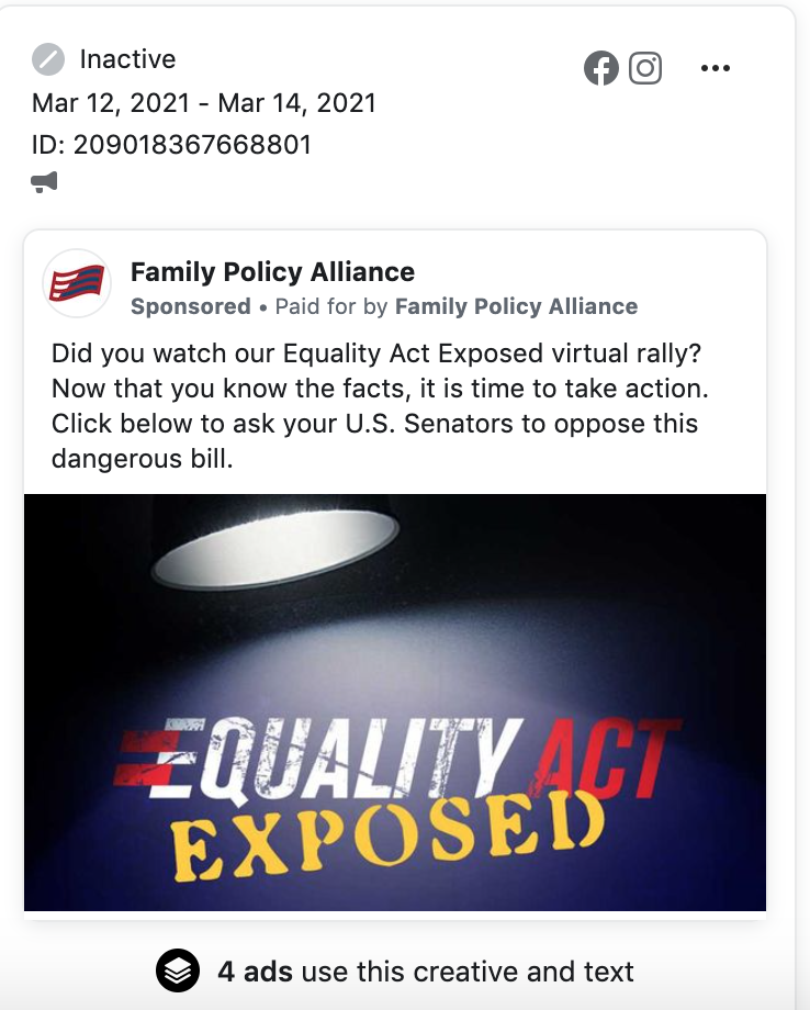 FPA Equality Act FB ads 3.16.21