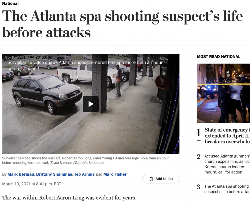 """The Atlanta spa shooting suspect's life before the attacks"""