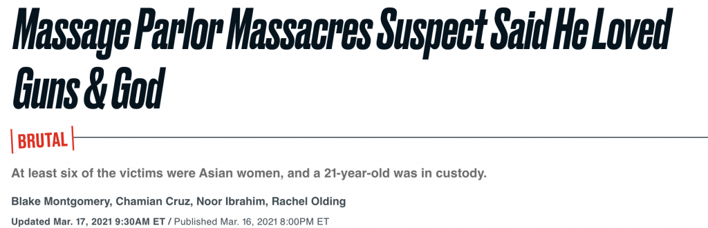 """Massage Parlor Massacres Suspect Said He Loved Guns & God"""