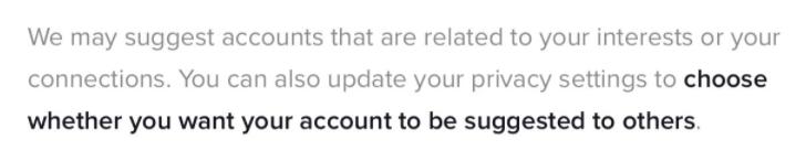 TikTok information button