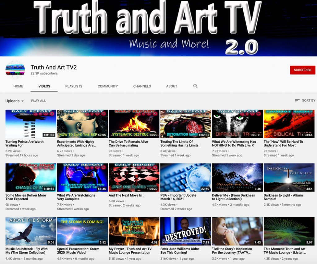 YouTube QAnon channels5