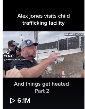 alex jones child trafficking facility 6.1 million views