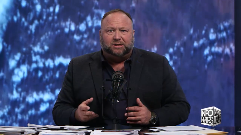 Alex Jones pushes SPARS conspiracy theory