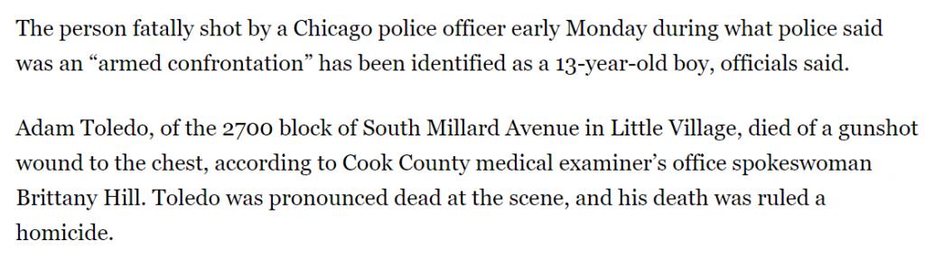 Screenshot of Chicago Tribune text