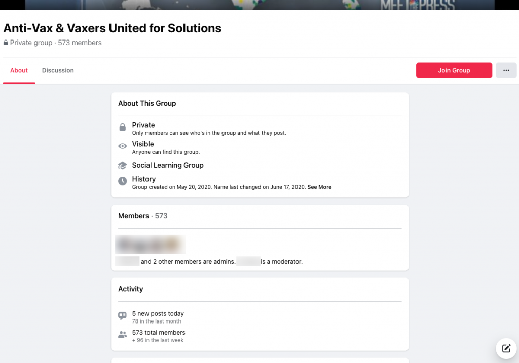 image of facebook group