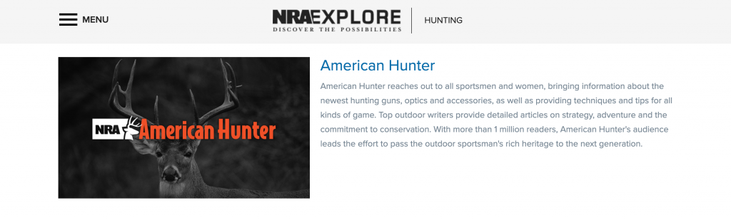 NRA's American Hunter publication