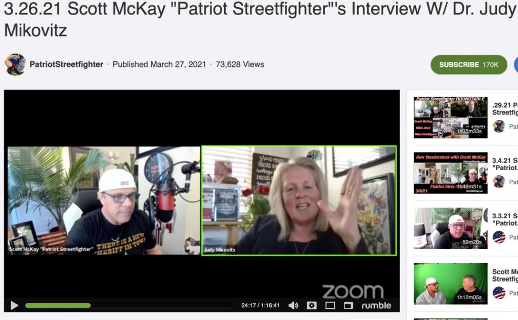 Judy Mikovits Patriot Streetfighter