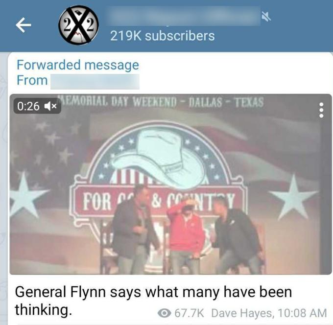 QAnon Flynn praise