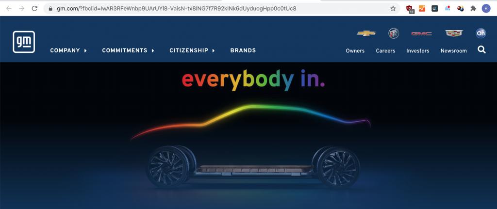 GM Pride car