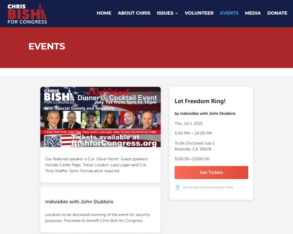 Chris Bish event with Lara Logan