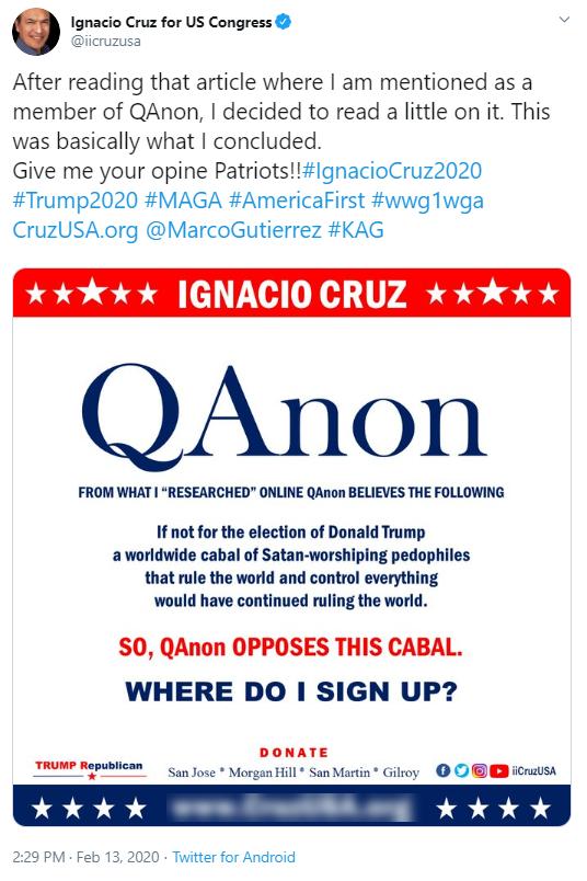 Ignacio Cruz Twitter QAnon