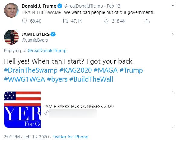 Jamie Byers QAnon Twitter