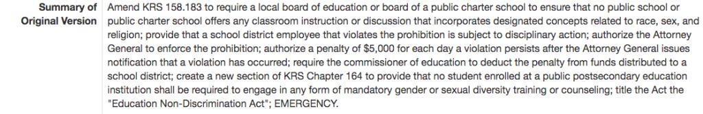 Penalty for CRT in schools