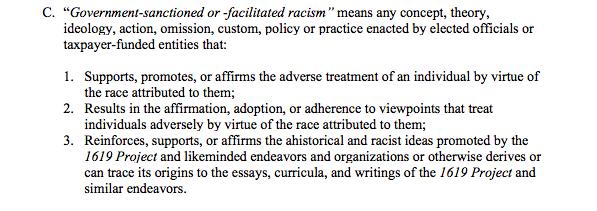 Banning 1691 critical race theory teachings