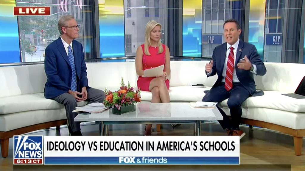 Ideology vs Education in schools Fox News chyron