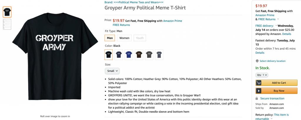 Groyper Army Amazon