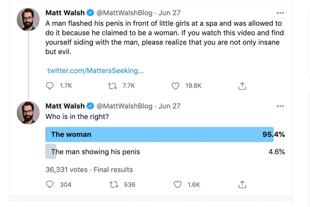 Matt Walsh spa tweet 1
