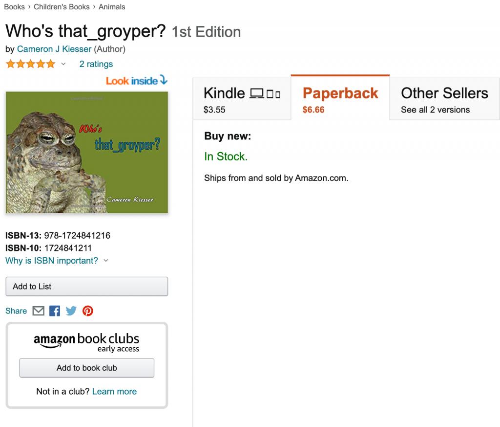 Who's that_groyper? Amazon