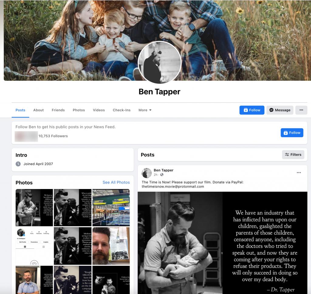 image of facebook profile