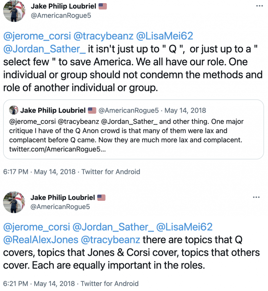 Jake Philip Loubriel QAnon Twitter