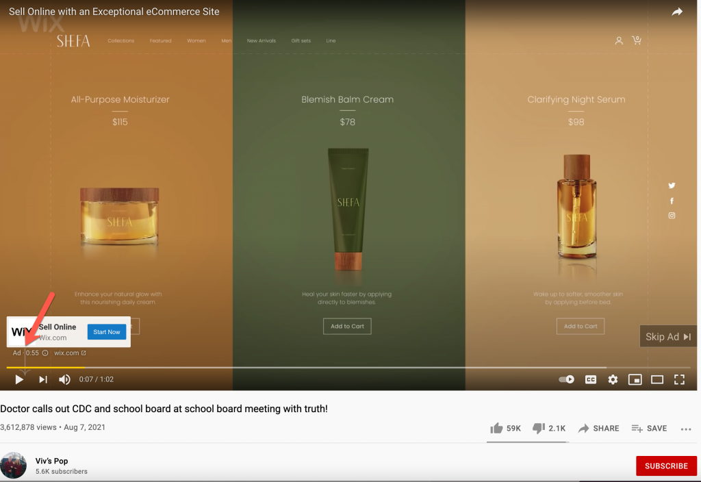 Dan Stock YouTube video ads1