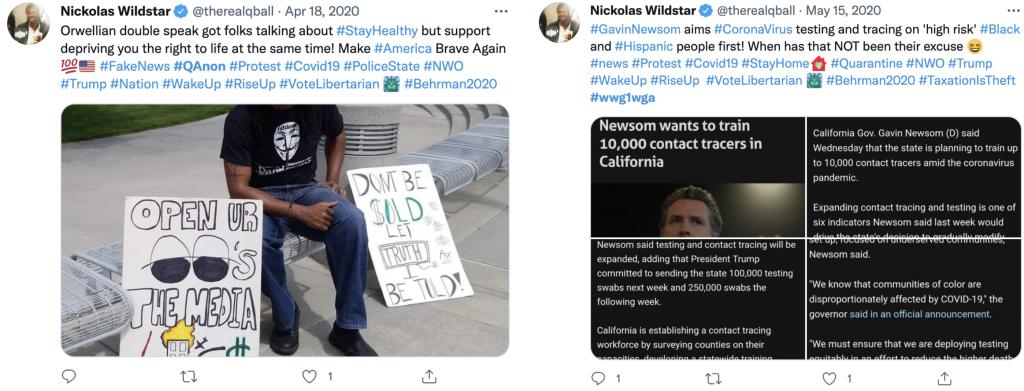 Nickolas Wildstar QAnon Twitter