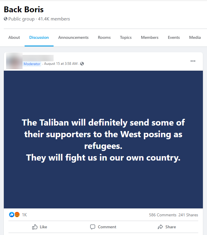 The Taliban will definitely send some of their supporters to the West posing as refugees. They will fight us in our own country.