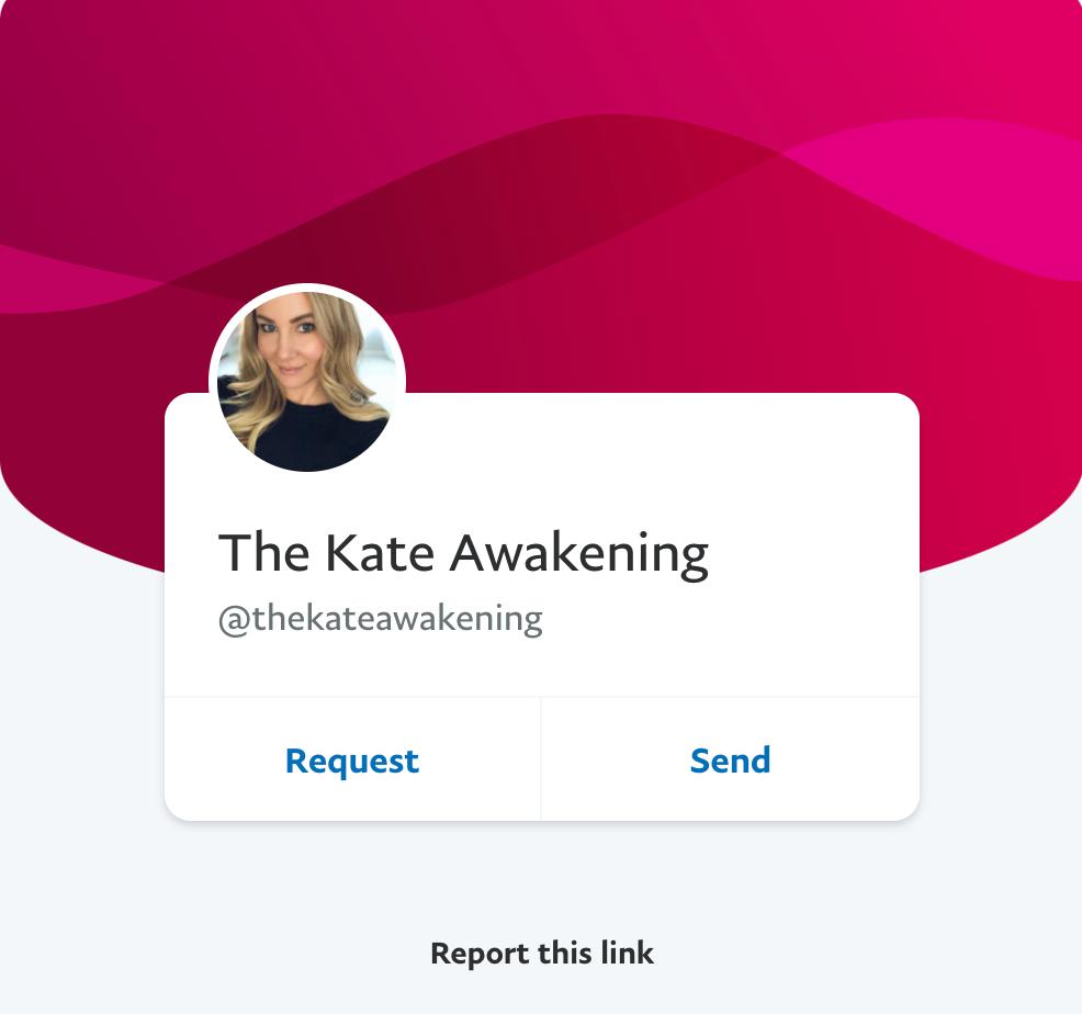 Kate Awakening PayPal