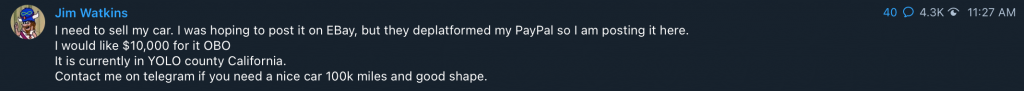 Jim Watkins PayPal