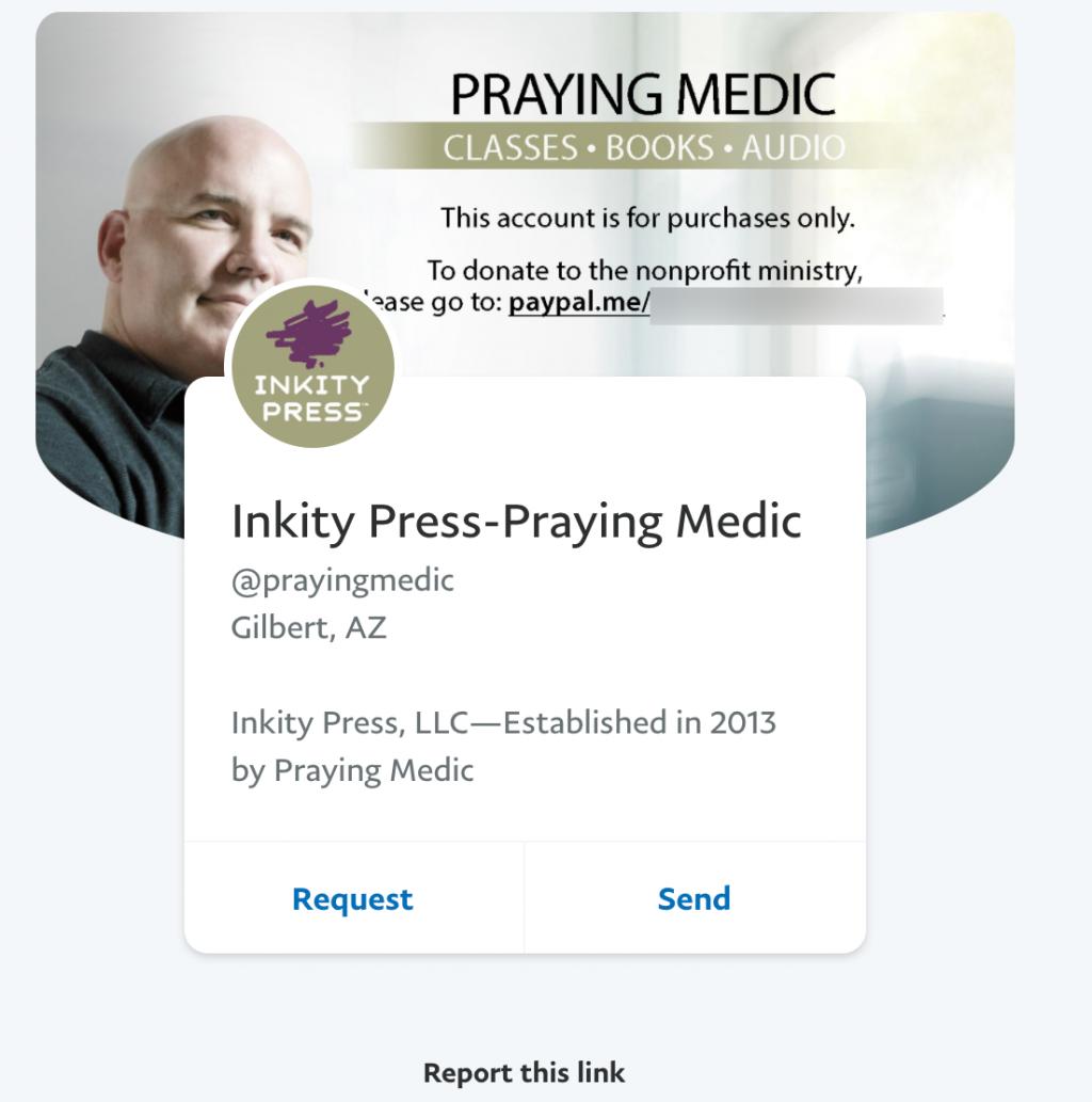 Praying Medic PayPal1