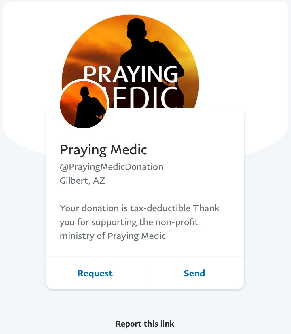 Praying Medic PayPal2