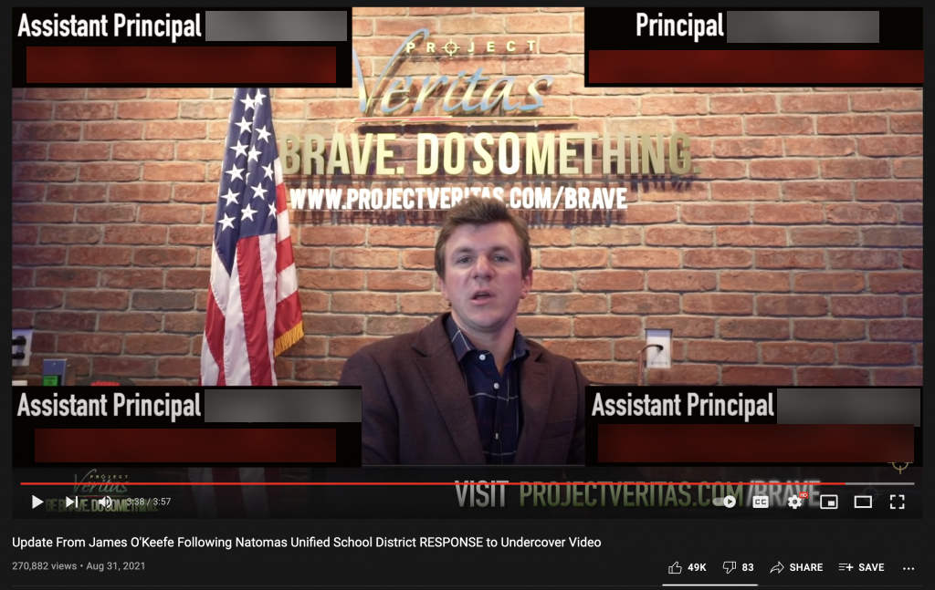James O'Keefe reveals the full emails of school officials.