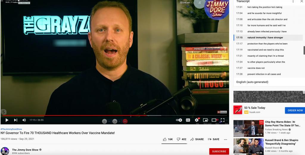 Natural immunity YouTube video