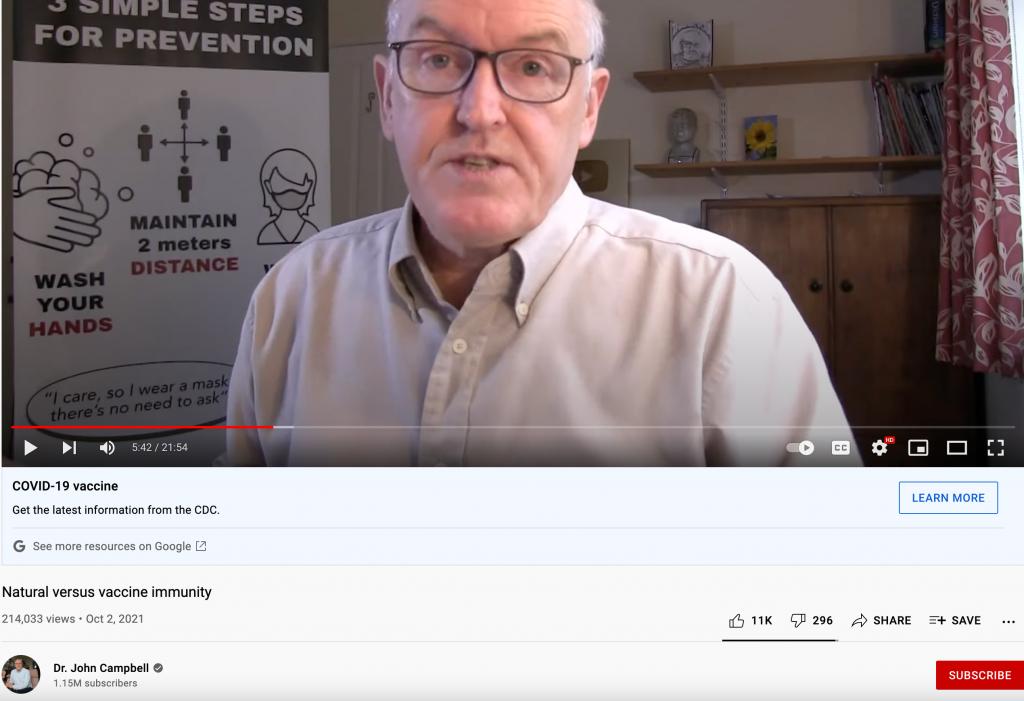 Natural immunity YouTube video2
