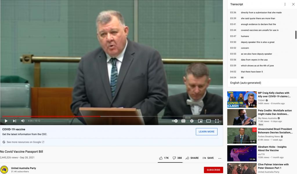 United Australia Party video