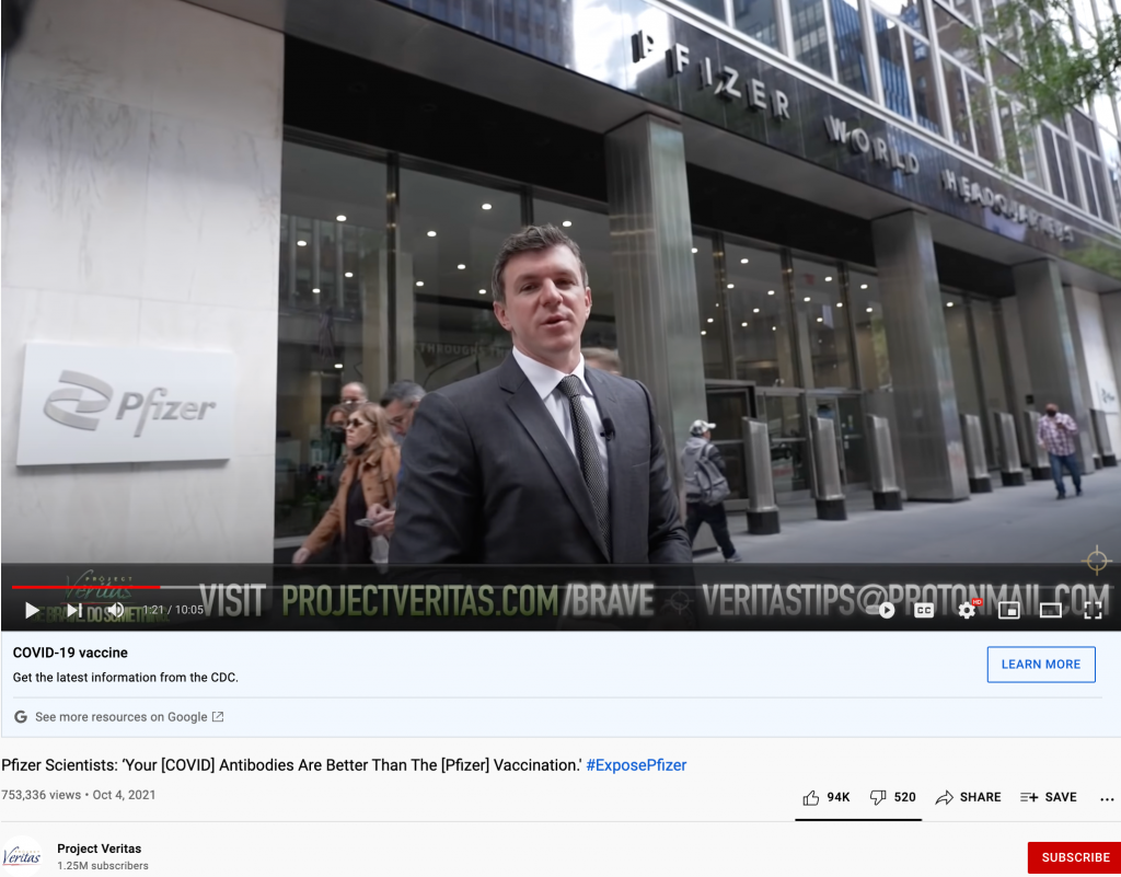 Project Veritas video YouTube