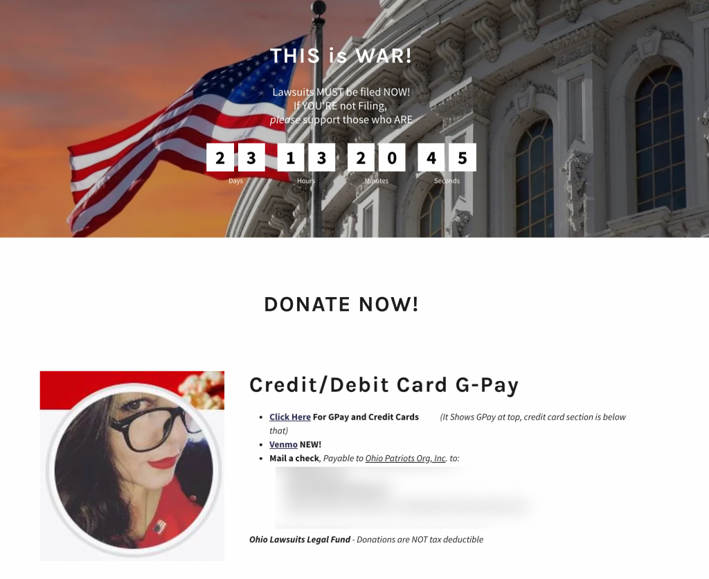 Tore donation page